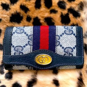 Gucci Ophidia cloth key ring